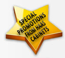 Ask about our Cabinet Promotions from HAAS Cabinets!!